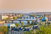 Prague at sunset — Stock Photo