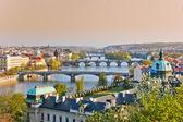 Prague at sunset — Stock Photo
