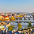 Prague at sunset - Stockfoto