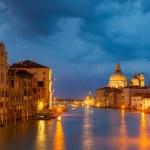 Grang canal at night, Venice — Stock Photo