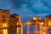 Grang canal at night, Venice — Stock Photo