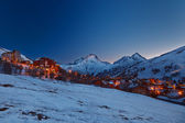 Ski resort in Alps — Stock Photo