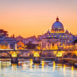 St. Peter's cathedral at night, Rome — 图库照片 #12369774