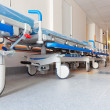 Corridor in hospital with  trolly - Foto de Stock