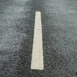 Stock Photo: White lane markings