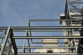 Facade support and sky — Stock Photo