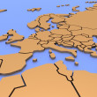 Royalty-Free Stock Photo: Three-dimensional map of Europe