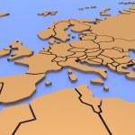 carte en trois dimensions de l'europe — Photo #12103947