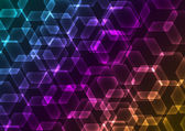 Abstract background with transparent colored hexagons — Stock Vector