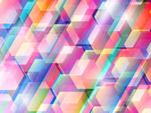 Abstract background with colored hexagons — Stock Vector