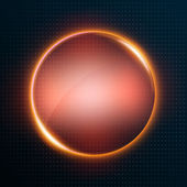 Abstract background with glowing circle — Stock Vector