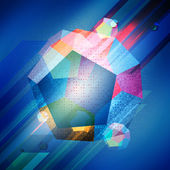 Abstract background with dodecahedron — Stockvector