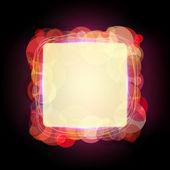 Abstrakt vektor ram med glänsande cirklar — Stockvektor
