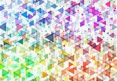 Streszczenie tło z kolor trójkąty — Wektor stockowy
