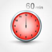 Timer 60 minutes — Stockvector