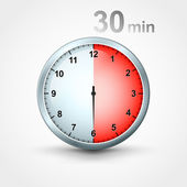 Timer 30 minutes — Stock Vector
