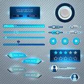 Set van gebruikersinterface — Stockvector