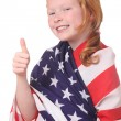 Stock Photo: Child with USA flag