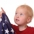 Child with USA flag — Stock Photo