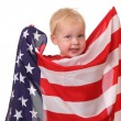 Child with USA flag — Stock Photo #11843904