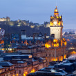 Edinburgh Skylines Dusk — Stock Photo