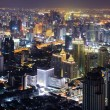 Bangkok Skyline night - Stock Photo