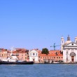 Church at Grand canel in Venice, Italy — Stock Photo
