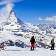 Постер, плакат: Sjier at Matterhorn Switzerland