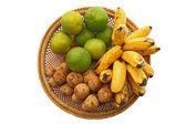 Tropical fruits set — Stock Photo