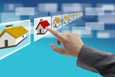 Electronic real estate commerce — Stock Photo