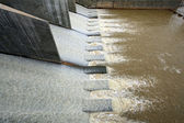 Water from dam — Stock Photo