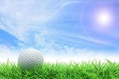 Golf blue sky — Stock Photo