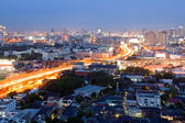 Bangkok Dowtown at dusk — Stock Photo