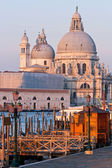 Santa Maria Della Salute Church at Grand canal Venice vertical — Stock Photo