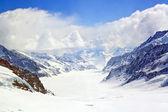 Aletsch alps glacier Switzerland — Stock Photo