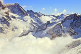 Mist at Jungfraujoch Switzerland — Stock Photo