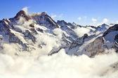 Landscape of Mist at Jungfraujoch, part of Swiss Alpine Alps at — Stock Photo