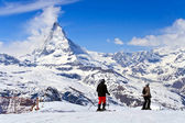 Sjier at Matterhorn Switzerland — Stock Photo