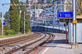 Kurvan för järnvägsspår — Stockfoto