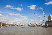 London Eye from Westminster Bridge — Stock Photo
