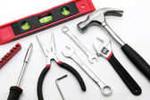 Basic construction tool set — Stock Photo