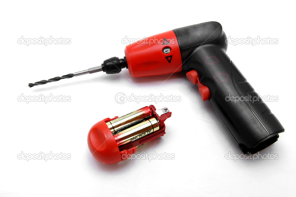 Isolated battery wirless drill screwdriver — Stock Photo #11146550