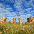 Mor Hin Khao, Thailand stonehenge, with beautiful field — Foto Stock
