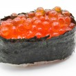 Ikura salmon egg roll sushi - Foto Stock