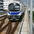 Blue sky train — Stock Photo