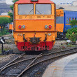 Diesel locomotive train — Stock Photo