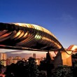 Singapore henderson wave bridge at dusk - Stock Photo