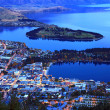 Queenstown downtown at dusk — Stock Photo