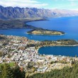 Queenstown cityscape from top — Stock Photo