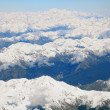 Landscape of southern alpine alps with Mount cook peak from top — Stock Photo #11163714
